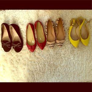 Lot of U.S. size 4.5 flat shoes